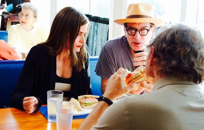 "Robert McCaskill, on set directing ""Detours"" starring Tara Westwood."